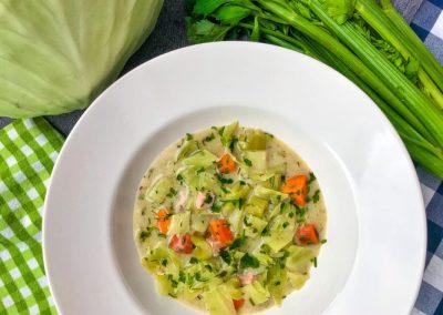 Zupa krem z selera naciowego i kapusty