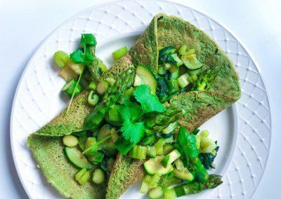 Zielone wrapy z selerem naciowym