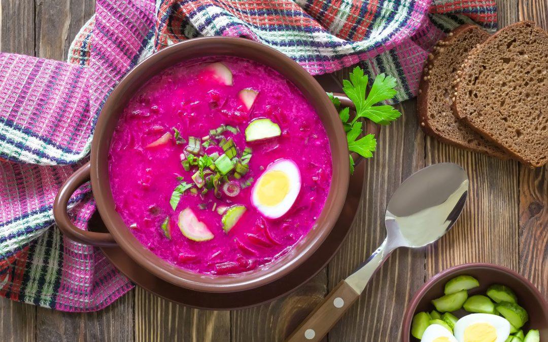 Chłodnik z selerem naciowym oraz zupy warzywne na lato